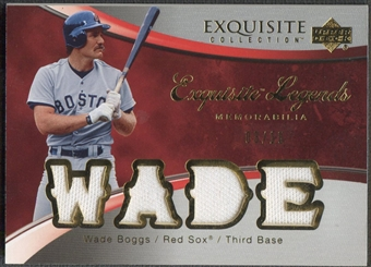 2006 Exquisite Collection #WB Wade Boggs Legends Memorabilia Jersey #03/15