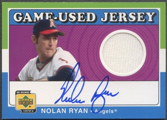 2001 Upper Deck Decade 1970's #SJNR Nolan Ryan Game Jersey Auto SP /291