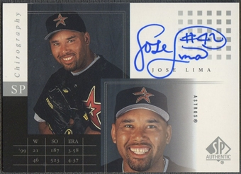 2000 SP Authentic #JL Jose Lima Chirography Auto