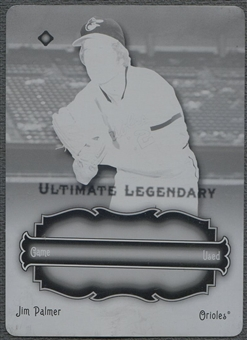 2006 Ultimate Collection #JP Jim Palmer Legendary Materials Printing Plate Black #1/1