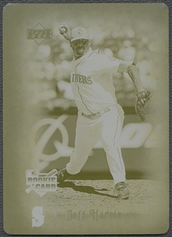 2006 Artifacts #80 Jeff Harris Printing Plate Yellow #1/1