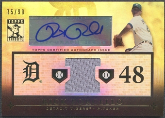 2010 Topps Tribute #RP2 Rick Porcello Jersey Auto #75/99