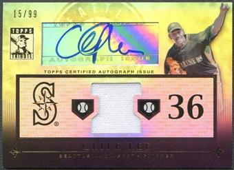 2010 Topps Tribute #CL4 Cliff Lee Jersey Auto #15/99