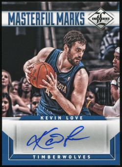 2012/13 Panini Limited Masterful Marks Signatures #29 Kevin Love Autograph 2/49
