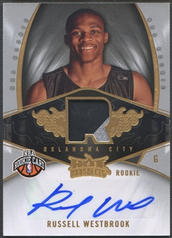 2008/09 Hot Prospects #140 Russell Westbrook Rookie Patch Auto #056/199