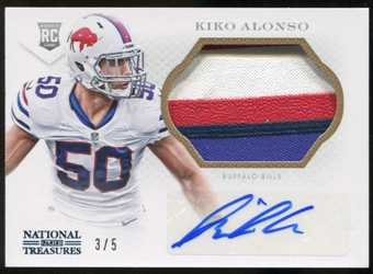2013 Panini National Treasures RC Kiko Alonso Serial #3/5 4 COLOR