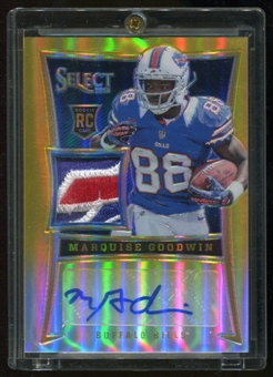 2013/14 Panini Select Gold Serial #4/10 RC Marquise Goodwin Bills Logo Patch
