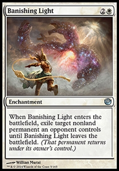Magic the Gathering Journey into Nyx Single Banishing Light Foil NEAR MINT (NM)