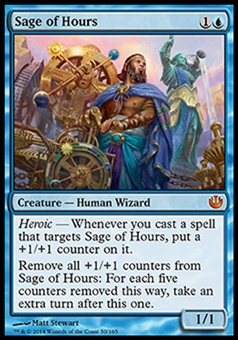 Magic the Gathering Journey into Nyx Single Sage of Hours Foil NEAR MINT (NM)