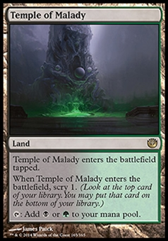 Magic the Gathering Journey into Nyx Single Temple of Malady NEAR MINT (NM)