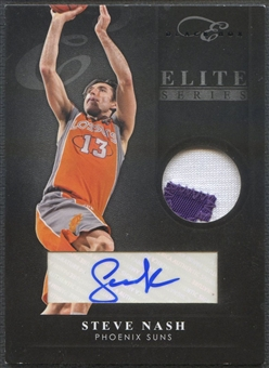 2010/11 Elite Black Box #100 Steve Nash Elite Series Materials Prime Signatures Patch Auto #3/5