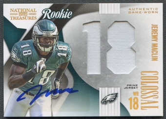 2009 Playoff National Treasures #8 Jeremy Maclin Rookie Colossal Jersey Prime Auto #04/10