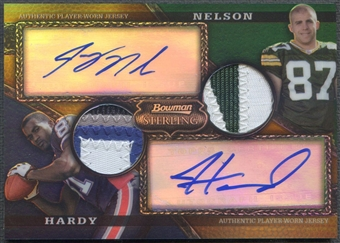 2008 Bowman Sterling #AR19 Jordy Nelson & James Hardy Gold Rookie Patch Auto #50/75