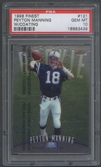 1998 Finest #121 Peyton Manning Rookie W/ Coating PSA 10