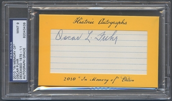 2010 Historic Autograph In Memory Of Oscar Fuhr Auto #1/1 PSA DNA