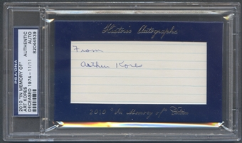 2010 Historic Autograph In Memory Of Art Kores Auto #11/11 PSA DNA