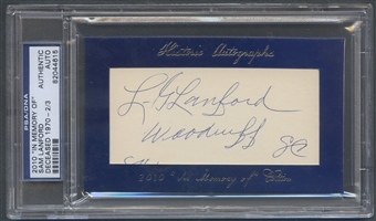 2010 Historic Autograph In Memory Of Sam Lanford Auto #2/3 PSA DNA