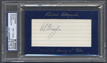 2010 Historic Autograph In Memory Of Al Brazle Auto #3/9 PSA DNA