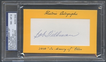 2010 Historic Autograph In Memory Of Bob Tillman Auto #1/1 PSA DNA