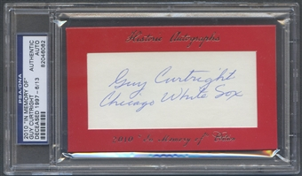 2010 Historic Autograph In Memory Of Guy Curtright Auto #06/13 PSA DNA