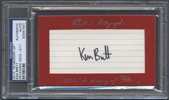 2010 Historic Autograph In Memory Of Ken Brett Auto #03/11 PSA DNA