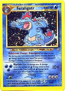 Pokemon Neo Genesis Single Feraligatr 5/111 - SLIGHT PLAY (SP)
