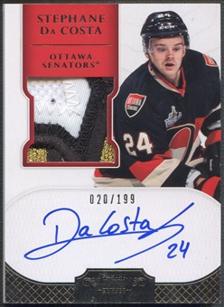 2011/12 Dominion #163 Stephane Da Costa Rookie Patch Auto #020/199