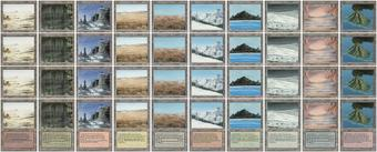 Magic the Gathering 3rd Ed (Revised) Dual Land 10x PLAYSET (40 duals, 4 of each) - NEAR MINT (NM)