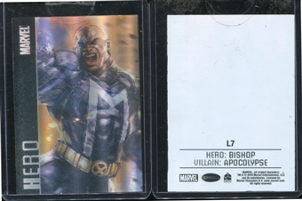 2014 Rittenhouse Marvel Universe Case Toppers #L7 Heroes and Villains L7 Bishop vs. Apocalypse Lenticular