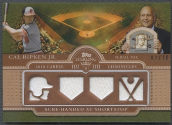 2010 Topps Sterling #CCR10 Cal Ripken Jr. Career Chronicles Quad Jersey #02/10