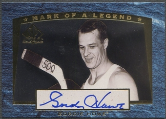 1997/98 SP Authentic #M1 Gordie Howe Mark of a Legend Auto #108/112