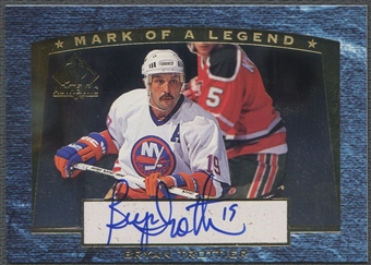 1997/98 SP Authentic #M4 Bryan Trottier Mark of a Legend Auto #123/560