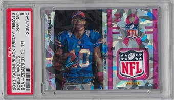 2013 Panini Robert Woods RC NFL Shield Serial # 1/1 EXPO 13'  VIP Gold Packs PSA 8