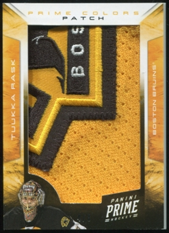 2012/13 Panini Prime Colors Patch #50 Tuukka Rask 4/8
