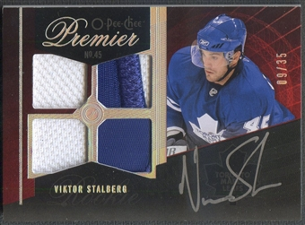 2009/10 OPC Premier #72 Viktor Stalberg Rookie Gold Spectrum Patch Auto #09/35