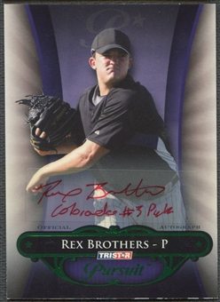 2010 TRISTAR Pursuit #14 Rex Brothers Green Rookie Auto #16/25
