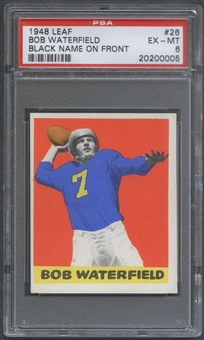 1948 Leaf Football #26 Bob Waterfield Rookie Black Name On Front PSA 6 (EX-MT) *0005