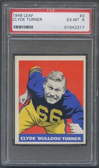 1948 Leaf Football #3 Bulldog Turner Rookie PSA 6 (EX-MT) *2317