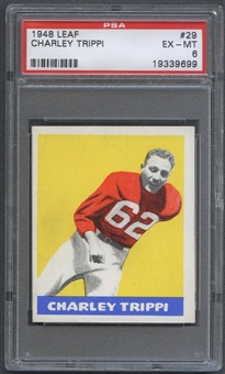 1948 Leaf Football #29 Charley Trippi Rookie PSA 6 (EX-MT) *9699