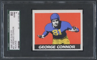 1948 Leaf Football #37 George Connor Rookie SGC 80 (EX/NM) *3056