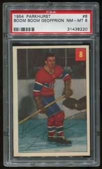 1954/55 Parkhurst #8 Boom Boom Geoffrion Graded PSA 8 (NM-MT) *8220*