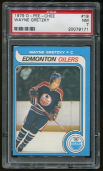 1979/80 O-Pee-Chee #18 RC Wayne Gretzky Graded PSA 7 (NM) *9171*