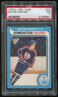 1979/80 O-Pee-Chee #18 RC Wayne Gretzky Graded PSA 7 (NM) *6981*