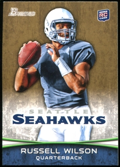 2012 Topps Bowman Gold #116 Russell Wilson RC