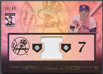 2010 Topps Tribute #MM Mickey Mantle Relics Jersey #74/99