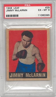 1948 Leaf Boxing #29 Jimmy McLarnin PSA 6 (EX-MT) *0395