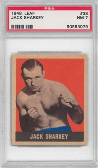 1948 Leaf Boxing #38 Jack Sharkey PSA 7 (NM) *3079