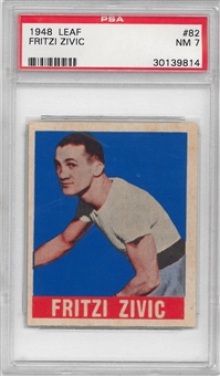 1948 Leaf Boxing #82 Fritiz Zivic PSA 7 (NM) *9814