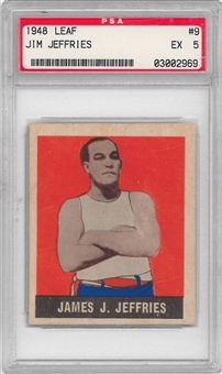 1948 Leaf Boxing #9 Jim Jeffries PSA 5 (EX) *2969