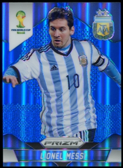 2014 Panini Prizm World Cup Prizms Blue #12 Lionel Messi /199